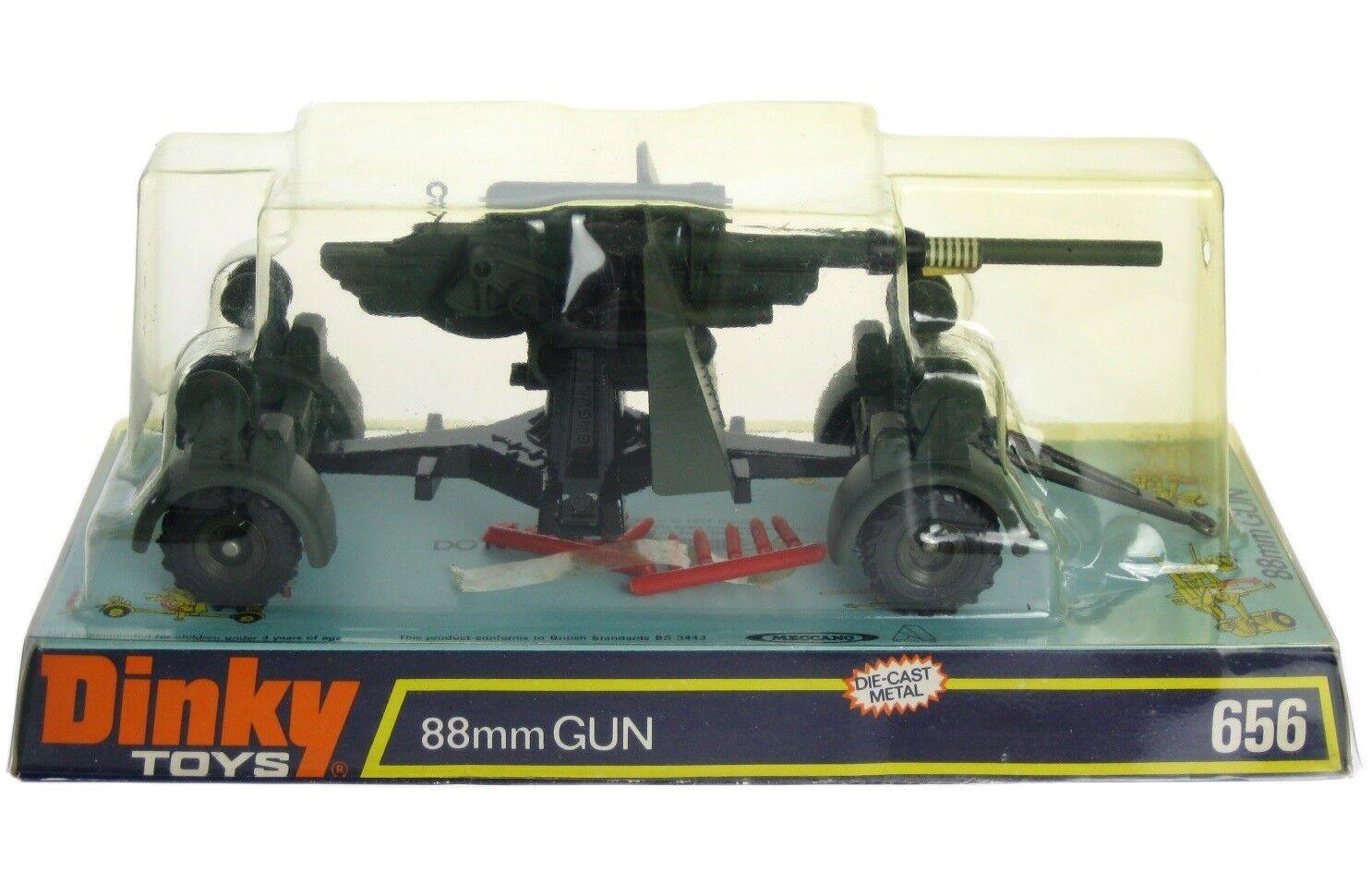 Vintage 1974 Dinky Meccano 656 WWII German 88mm Flak Gun Mint w Box MIB