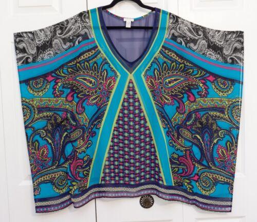 Chico S Sheer Swim Suit Cover Up Short Dress Kaftan F Gem
