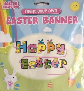 Colour-Your-Own-HAPPY-EASTER-Banner-Bunting-Decoration-Childrens-Craft-Kit-321