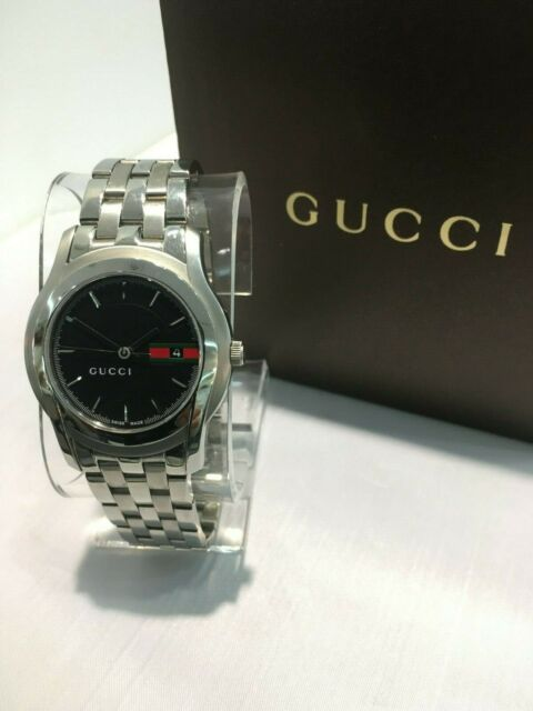 80b4eadac34 Gucci 5500 XL YA055202 Stainless Steel Quartz Men s Watch for sale ...