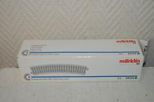 LOT-DE-6-RAILS-VOIE-COURBE-MARKLIN-24224-TRAIN-HO-NEUF-EN-BOITE-R2-437-5-MM
