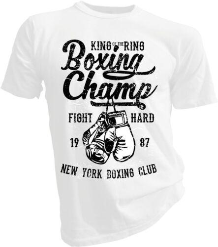 Lotta UFC PUGILATO Champ MMA Scatola Boxer palestra Adulto /& Bambini T-shirt