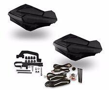 Powermadd Sentinel LED Handguards Black / Black Mount Ski Doo Hayes Snowmobile