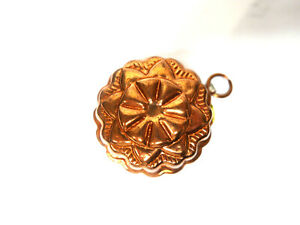 "Vintage Copper Mold Flower Chocolate 4.5"" W x 1 3/8"" H"