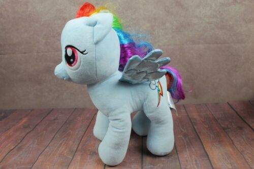 "My little Pony Rainbow Dash Build A Bear 2013 16"" Blue Plush Toy Stuffed Animal"