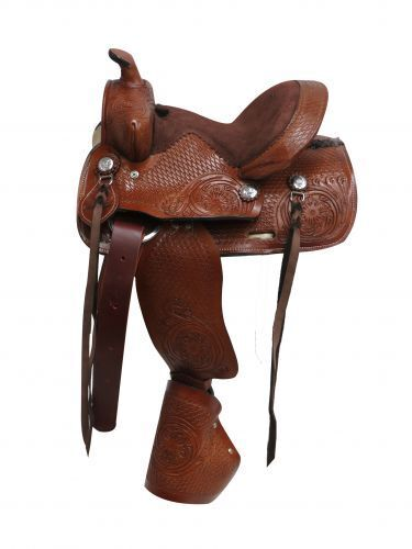 Western pleasure trail show  10  Double T pony youth saddle tapedero stirrups.  best prices