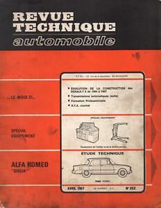 Nouvelle Mode Rta Revue Technique Automobile N° 252 Alfa Romeo Giulia 1967 Bas Prix