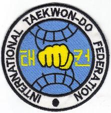 [Patch] TAEKWON-DO cm 10 toppa ricamo TAEKWONDO Arti Marziali DOBOK -116g