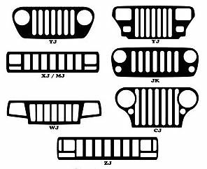 jeep grill window decal sticker jk tj xj wj zj yj mj cj 47