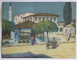 Moreau-Paesaggio-Orientalista-Vicino-D-039-Une-Moschea-Marocco-Algeria-Africa