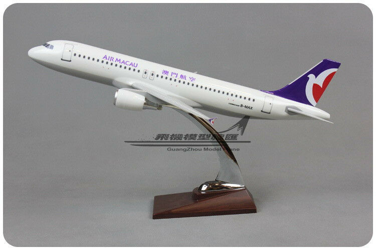 38CM 1 99 AIR MACAU AIRBUS A320 Passenger Airplane Plane Aircraft Resin Model