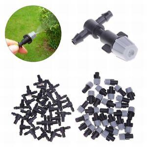 Micro-Drip-Irrigation-Self-Watering-Garden-Hose-Spray-Sprinklers-amp-Tee-Connector