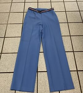 Vintage Levis Pantalones De Vestir Para Mujer Bend Over 30 X 30 Azul Pantalones Cinturon 1970s Talla 12 Ebay