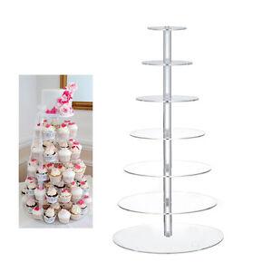 hochzeitstortenst nder tortenst nder 7 etagen etagere kuchen muffin st nder. Black Bedroom Furniture Sets. Home Design Ideas