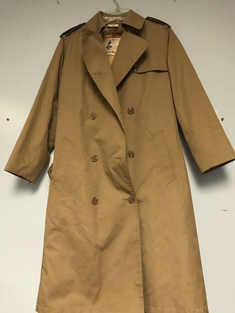 Misty Harbor Coat Size M L Tan Long Trench Styjle