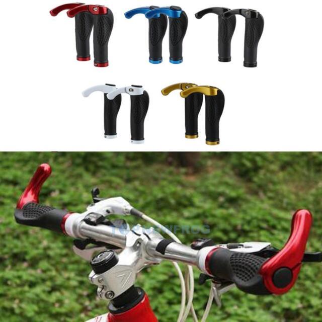 Ergonomische MTB Mountainbike Fahrrad Lenker Griffgummis Radfahren Lock-On Ends