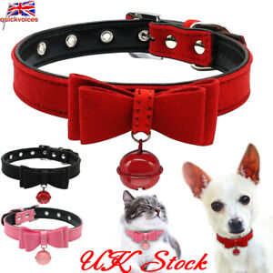 New Fashion Bowknot Dog Puppy Pet Cat Neck Collars Pink Cute Pet Accessories