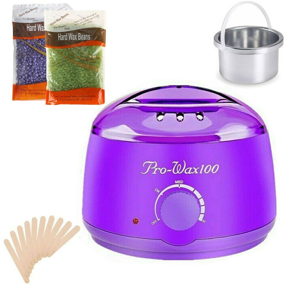 Hair Removal Hot Wax Warmer Electric Heater Waxing Kit Salon Spa