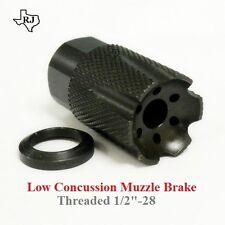 Low Concussion 1/2x28 Muzzle Brake Compensator 223/556/22 COMPACT CUSTOM