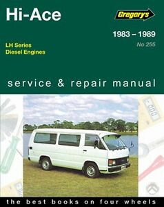 gregory s service repair manual toyota hi ace lh diesel 83 89 owners rh ebay co uk Tractor Service Manuals 12H802 Manual