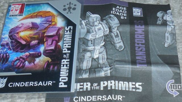 Transformers Power Of The Primes CINDERSAUR BIO and MANUAL No2