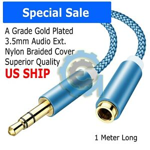 3-5mm-Audio-Extension-Cable-Stereo-Headphone-Cord-Male-to-Female-Car-AUX-MP3-lot