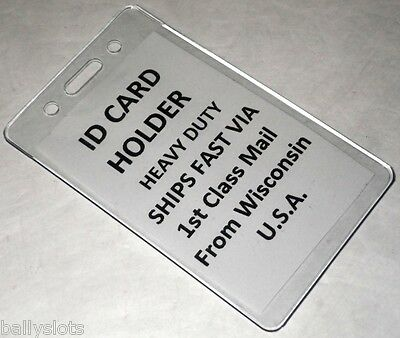 1 Vertical ID Heavy Duty Plastic Badge Holder Card School Event Conference Work