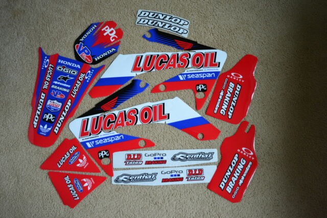TEAM HONDA LUCAS OIL  GRAPHICS CRF250 CRF250  2004 2005 2006 2007 2008 2009