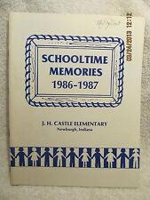 1986-87 Yearbook Castle Elementary School Newburgh IN 1st Thru 6th Great Photos