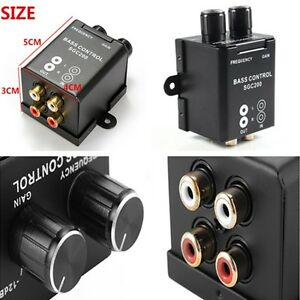NEW Car Home Universal RCA Gain Volume Amplifier Subwoofer Equalizer