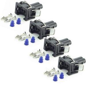 4x-Einspritzduesen-Stecker-Einspritzventil-passend-fuer-EV1-037906240-1287013003