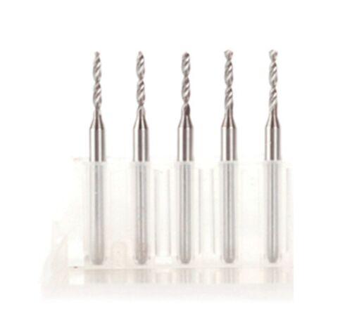 5 pcs 2.4 mm Carbide Steel Micro Engraving Drill Bits Tool CNC PCB Rotary Tools