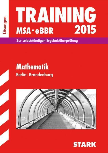 Training Mathematik 2015 Lösungen Mittlerer Schulabschluss Schleswig-Holstein