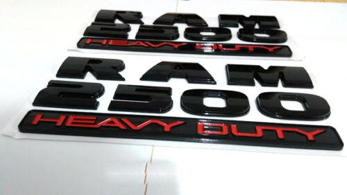 2pcs Black RAM2500 Emblem Fender Badge Car Body Side Sticker