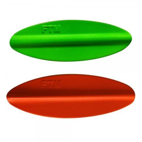 FTM Tornado Inline Spoon 37mm 3,7cm 3,5g UV Orange Grün 5200357 Durchlaufblinker