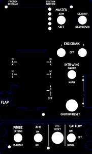 F18 Hornet Thrustmaster Warthog HOTAS Throttle Custom Plates