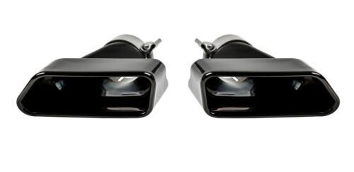SPORT AUSPUFF ENDROHRE BLENDEN BLACK CHROME für BMW F10 F11 F12 F13
