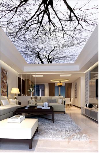 3D Winter Trees 5 Ceiling WallPaper Murals Wall Print Decal Deco AJ WALLPAPER UK