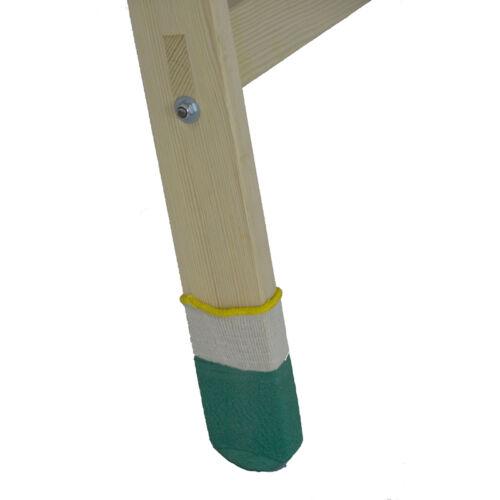 4 x Leitersocke Holzleiter Leitersocken Set rutschfest Leiterschuhe Leiterkappen