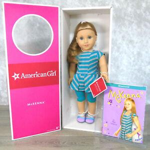 NEW-18-034-American-Girl-DOLL-MCKENNA-GOTY-2012-Meet-Outfit-Wrist-Tag-Book-BOX