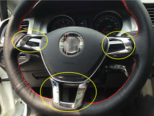 3pcs For VW Volkswagen Golf 7 MK7 2014 2015 Interior Trim Steering Wheel Cover