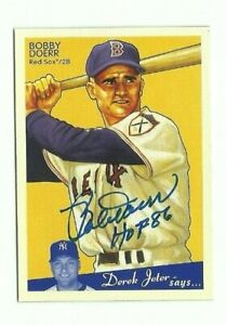 Bobby Doerr 2008 Upper Deck Goudey autographed auto signed card Red Sox
