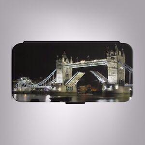 London-Bridge-Night-England-UK-LEATHER-FLIP-PHONE-CASE-COVER-fits-IPHONE-SAMSUNG
