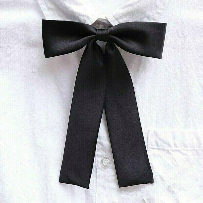 Girls Japanese JK Uniform Lolita Bow Tie Cosplay Neck Tie Ribbon Adjustable NR9