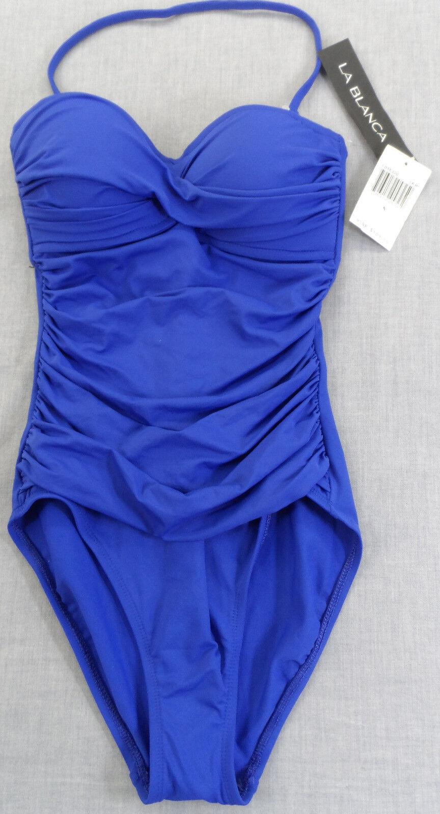 LA whiteA Gorgeous Women's ROYAL blueE 1 Piece Ssimsuit  NWT Sizes 4 & 6      109