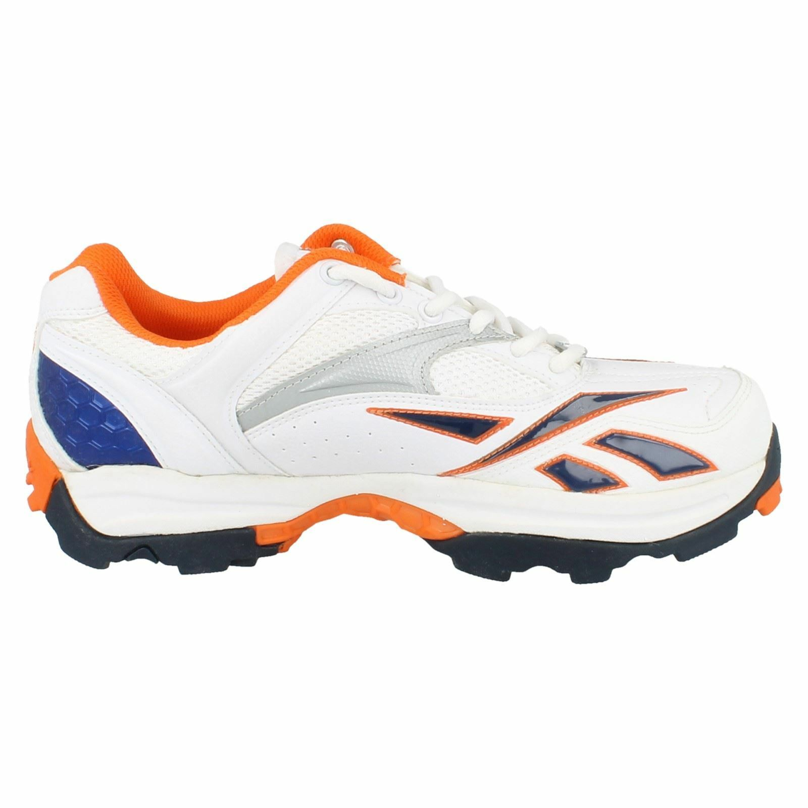 Game Trainer White//Silver//Paprika//Royal Reebok Mens Lace Up Trainers