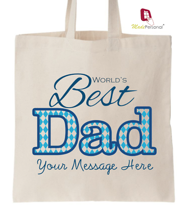Dad Personalised Tote Bag Shopper Thanks Amend Birthday Gift Father/'s Day