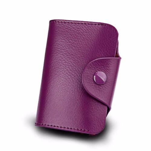 New Genuine Leather Aluminum Wallet RFID Blocking Pocket Holder Credit Card Case