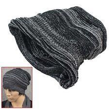 Cálido Crochet Sombrero de Punto Gorro Elástico Para Mujer Hombre Esqui Deporte
