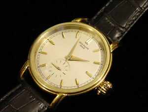 Vintage-Patek-Philippe-Geneve-18-Jewels-Gold-plated-case-42-mm-Stunning-NR